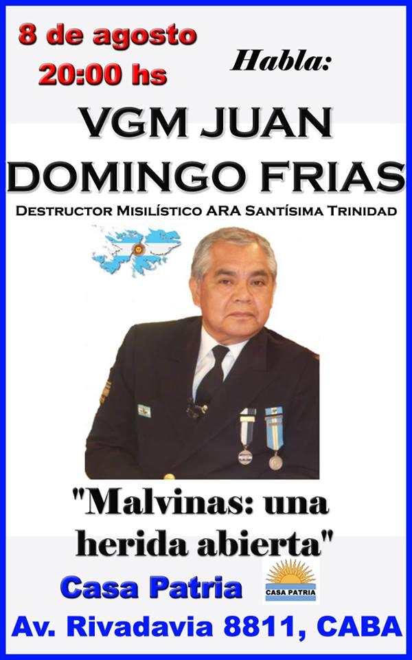 Conferencia VGM Juan Domingo Frías en Casa Patria