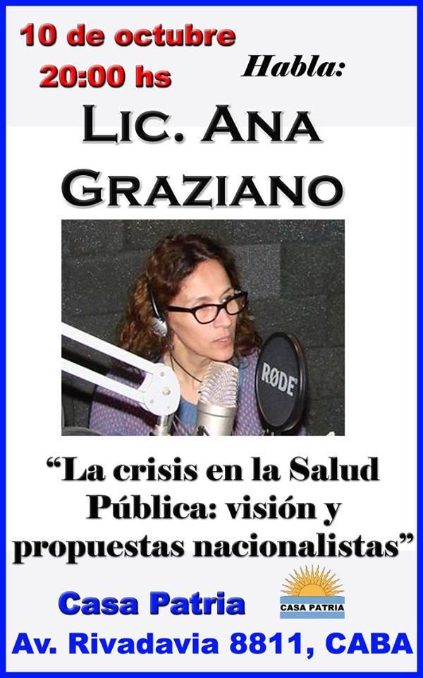 Conferencia Lic. Ana Graziano en Casa Patria
