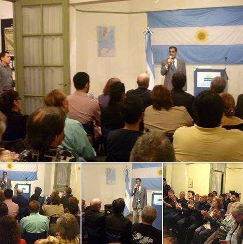 El VGM Carlos Curbelo presentó su libro en Casa Patria