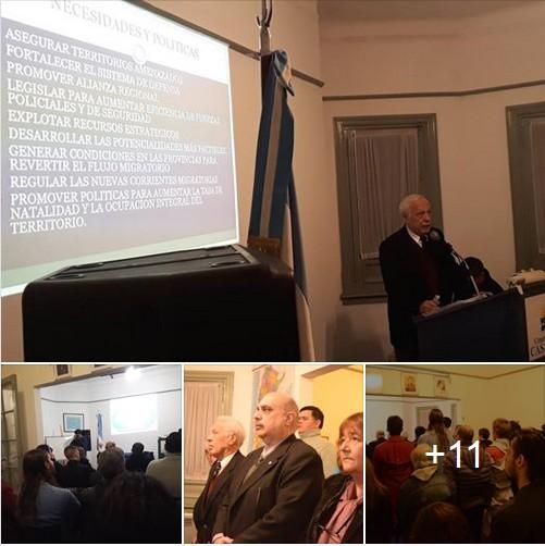 El Contralmirante (RE) Neves disertó en Casa Patria sobre Geopolítica Argentina y Mundial